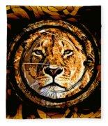 Lioness Face Fleece Blanket