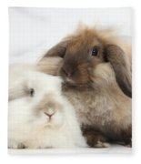 Lionhead-lop Rabbits Fleece Blanket
