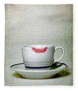 Lip Marks Fleece Blanket