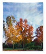 Liquid Amber Trees Fleece Blanket
