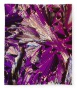 Liquid Crystalline Dna Fleece Blanket