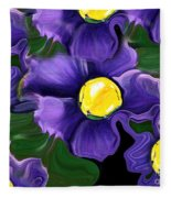 Liquid Violets Fleece Blanket