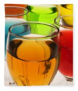 Liquor Glasses Fleece Blanket