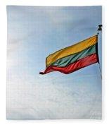 Lithuanian Tricolor Fleece Blanket
