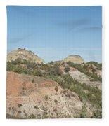 Little Badlands Missouri Panorama1 Fleece Blanket