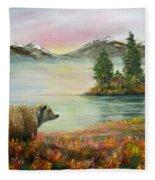 Little Bear Big World Fleece Blanket