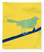 Little Blue Bird Fleece Blanket