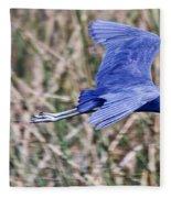 Little Blue Heron In Flight Fleece Blanket