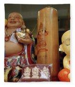 Little Buddhas In Silom In Bangkok In Thailand Fleece Blanket