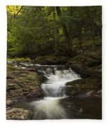 Little Carp River Falls 3 Fleece Blanket