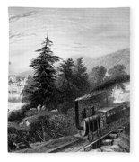 Little Falls: Railroad Fleece Blanket