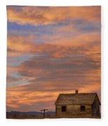 Little House On The Colorado Prairie Fleece Blanket