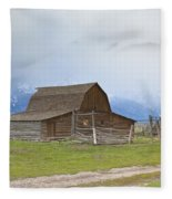Little Mountain Barn Fleece Blanket