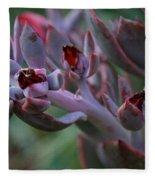 Little Red Blossoms Fleece Blanket
