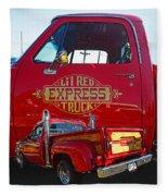 Little Red Exprees Door Hdr Fleece Blanket