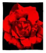 Little Red Flower ... Fleece Blanket