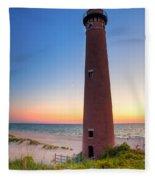 Little Sable Point Light Station Fleece Blanket