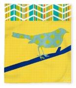 Little Song Bird Fleece Blanket