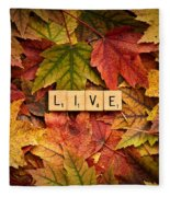 Live-autumn Fleece Blanket