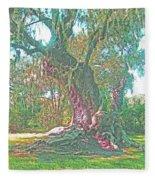 Live Oak On The Teche Fleece Blanket