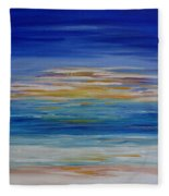 Lively Seascape Fleece Blanket