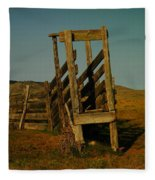Livestalk Loader In South Dakota Fleece Blanket