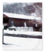 Livingston Manor Covered Bridge Fleece Blanket