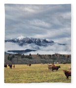 Livingstone Range And Pastureland Fleece Blanket