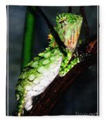 Lizard With Oil Painting Effect Fleece Blanket