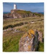 Llanddwyn Rock Fleece Blanket
