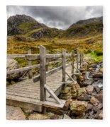 Llyn Idwal Bridge Fleece Blanket