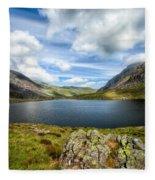 Llyn Idwal Lake Fleece Blanket
