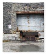 Loading Dock Door 1 Fleece Blanket