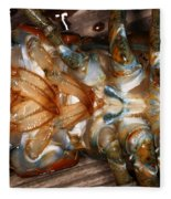Lobster Female Sex Organs Fleece Blanket