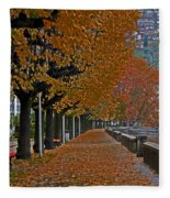 Locarno In Autumn Fleece Blanket