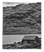 Loch Arklet Boathouse Fleece Blanket