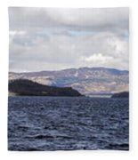 Loch Lomond - Pano1 Fleece Blanket