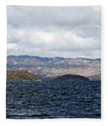 Loch Lomond - Pano2 Fleece Blanket