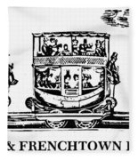 Locomotive, 1833 Fleece Blanket