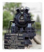 Locomotive 639 Type 2 8 2 Front View Fleece Blanket