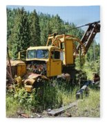 Logging Truck 2 - Burke Idaho Ghost Town Fleece Blanket