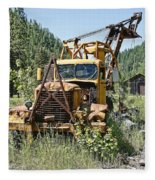 Logging Truck - Burke Idaho Ghost Town Fleece Blanket