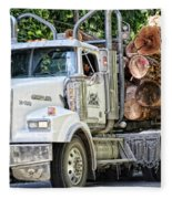 Logging Truck Fleece Blanket