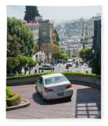 Lombard Street San Francisco Fleece Blanket