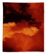 Lomo Moon And Clouds Fleece Blanket