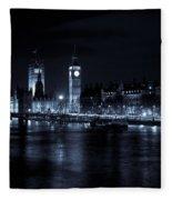 London At  Night View Fleece Blanket
