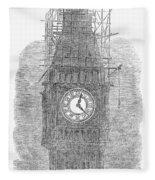 London: Big Ben, 1856 Fleece Blanket