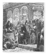 London: Christmas, 1866 Fleece Blanket