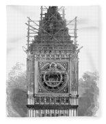 London: Clock Tower, 1856 Fleece Blanket