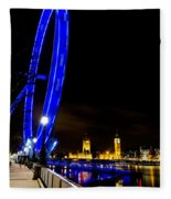 London Eye And London View Fleece Blanket